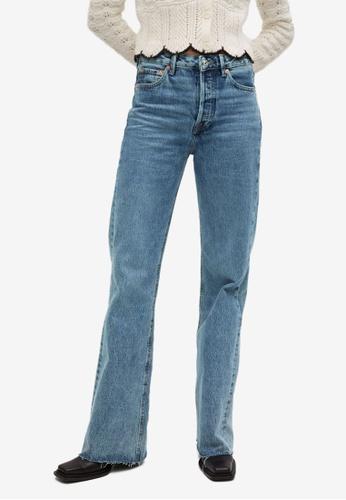Mango blue Wide Leg High Waist Jeans F629FAA4DA8C33GS_1
