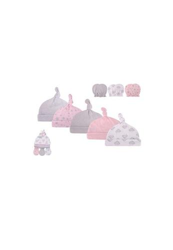 Little Kooma pink Hudson Baby Hats n Scratch Mittens 8 Pcs Set Cloud Mobile Pink 56156 D2107KC917B1AFGS_1