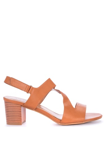 Alberto brown Chunky Heeled Sandals 5FB4FSH82614FDGS_1