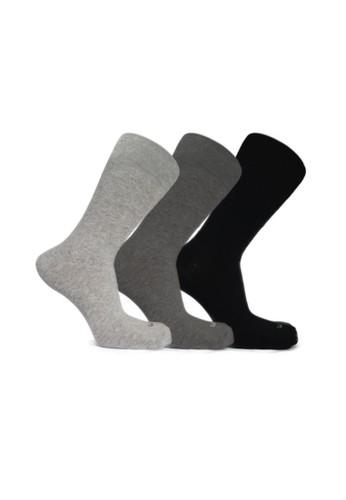 Mundo black and grey Mundo Casual Men Sock 3 Pairs Pack E2E9DAA9AF2AEFGS_1