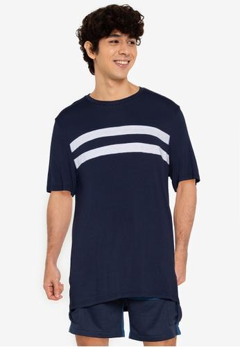 ZALORA BASICS multi Chest Stripe T-Shirt 2B067AACC4DF7CGS_1