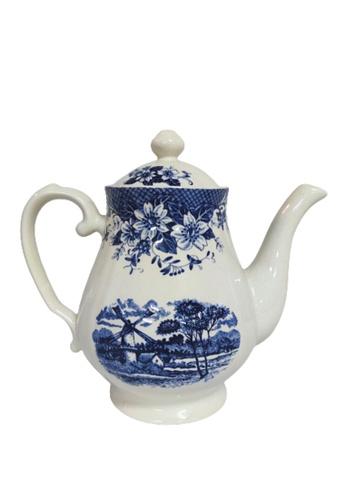 Claytan 185B Windmill Blue-Tea pot 339EFHLBCCF53FGS_1