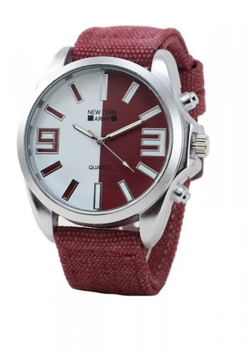 Greatvalueplus red Maynard Men's Analog Nylon Watch NYA321 6A098AC48BC819GS_1