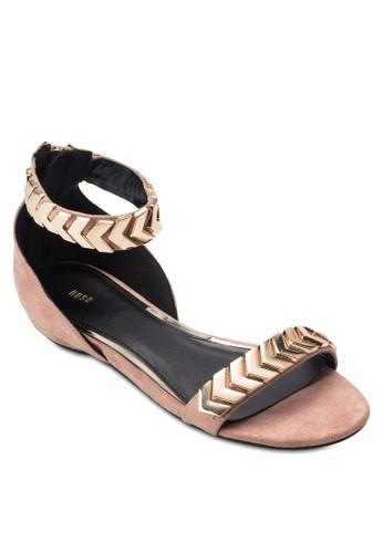 金飾繞踝涼鞋, esprit童裝門市女鞋, 鞋