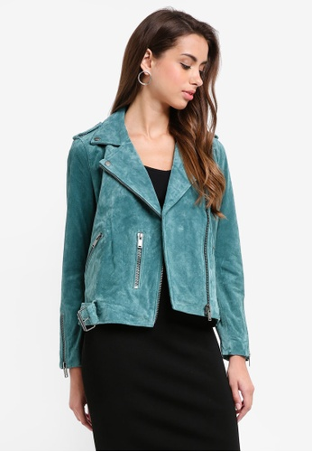 Selected Femme blue Sanella Faux Leather Jacket DFF79AA228FE68GS_1