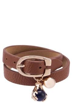 Hold-Your-Dreams Faux Leather Bracelet