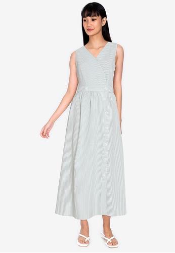 ZALORA BASICS multi Side Button Wrap Dress 816D4AA1BCC505GS_1