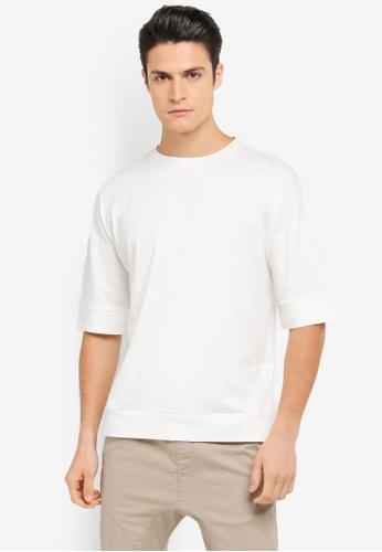 ZALORA white Oversize Boxy Tee E9BD6AA9438DF8GS_1