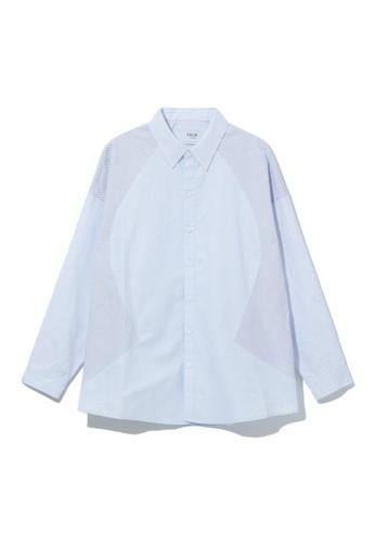 Fivecm blue Panelled shirt 57880AA7F38A68GS_1