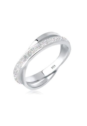 Elli Germany silver  Perhiasan Wanita Perak Asli - Silver Cincin Wrap Basic Silver 43FBFAC0F4FE7AGS_1
