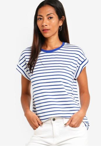 ZALORA BASICS multi Basic Rolled Cap Sleeves T-Shirt 975D2AAE5F382DGS_1