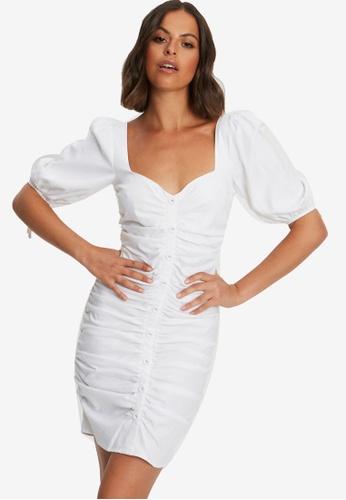 Sável white Sorena Mini Dress 9D5E5AA380CFE9GS_1