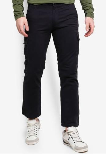 OVS black Regular Fit Cargo Trousers 59C80AA5EBAF73GS_1