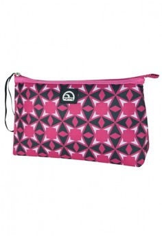 Starburst Tile Berry Pink Lunch Clutch
