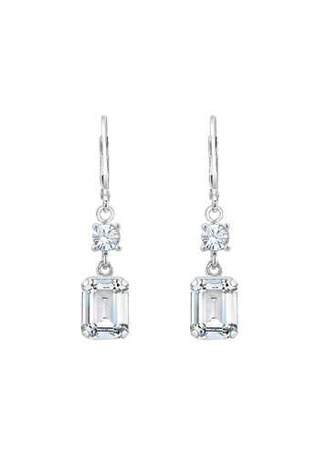 ELLI GERMANY silver Earrings Geo Square Crystal 2D9E6AC9005DA8GS_1