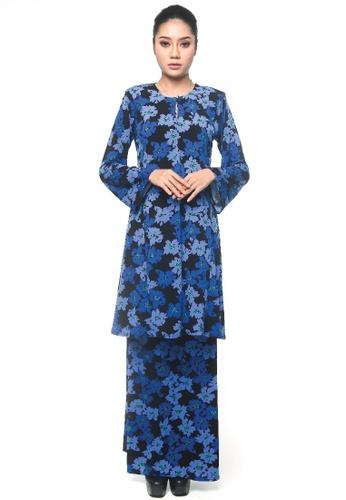 UMMIRIAZ blue Kurung Pahang in Blue Petunia 35C61AA048C611GS_1