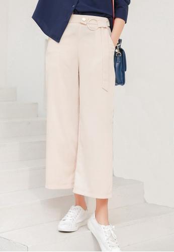 Shopsfashion beige Ringed Straight Leg Pants in Beige SH656AA0FI70SG_1