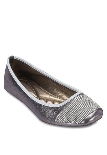 閃鑽方頭平esprit官網底鞋, 女鞋, 鞋