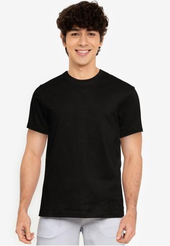 UniqTee black Ultra Soft Comfort-Fit Crew Neck Tee 5F476AA71C7A8BGS_1