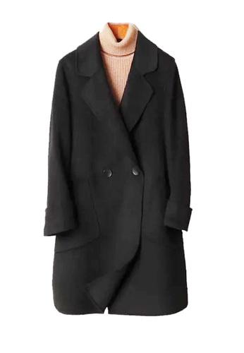 Twenty Eight Shoes black VANSA Solid Color Double-sided Wool Coat  VCW-C1713 ED76DAA7277C87GS_1
