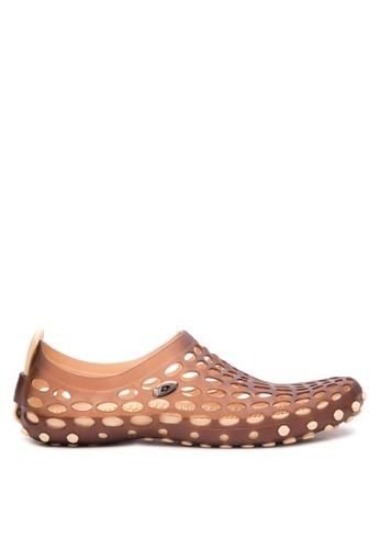 Krooberg brown Drain Aqua Shoes KR692SH97YNEPH_1