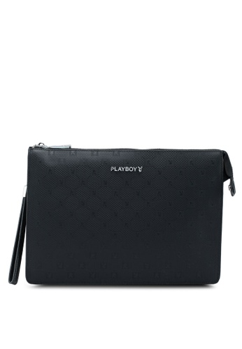 Playboy black Playboy Clutch Bag 18386AC65CB326GS_1