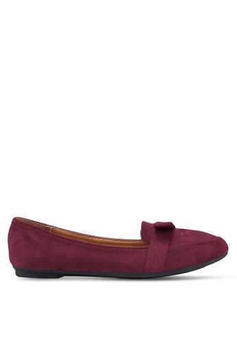 Noveni 紅色 Ribbon Ballerina Flats 121C3SH33D1063GS_1