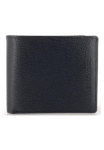 Enrico Coveri black and brown Italian Leather Flap Wallet 38FBDACBD3AA8CGS_1