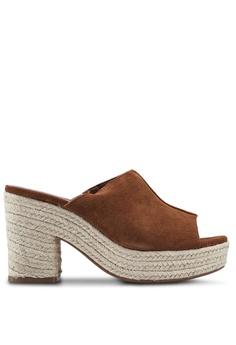 d92ebb42c037 Mango brown Platform Heeled Sandals 0E7B3SH9B9C663GS 1