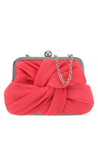 Dorothy Perkins pink Coral Pleat Frame Clutch Bag C1E4EAC4CB4791GS_1