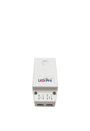 UKGPro KinSwitch 1-路RF&WiFi無線接收智能電源控制器可控調光,分體式電源燈制開關直接安裝在電燈的源頭透過無線接收訊號開關多達配對10個RF無線開關雙控多控無須拉線(U-ERC1201-W) 0899EHL6570F5EGS_1