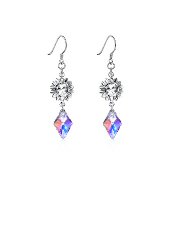 Glamorousky multi 925 Sterling Silver Diamond Earrings with Austrian Element Crystal 1F8A6AC7CFFED9GS_1