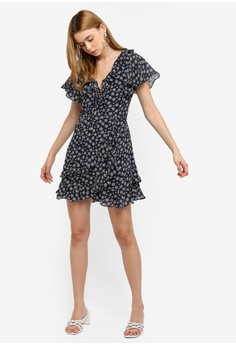 248a4ee718d 39% OFF INDIKAH Tiered Ruffle Hem Lace Up Front Skater Dress S$ 105.84 NOW  S$ 64.90 Sizes 6 8 10 12