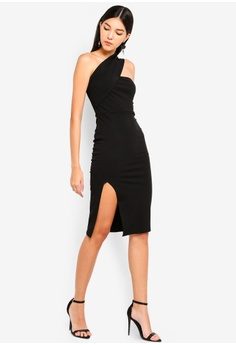 f17aa292cb7d MISSGUIDED One Shoulder Midi Dress RM 149.00. Sizes 6 8 10 12 14