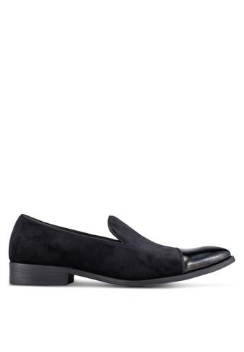 ZALORA black Patent Toe Cap Cocktail Dress Loafers 4BA1CAAB0406D2GS_1