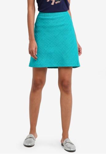 ESPRIT green Woven Mini Skirt 33AC5AA4954C74GS_1
