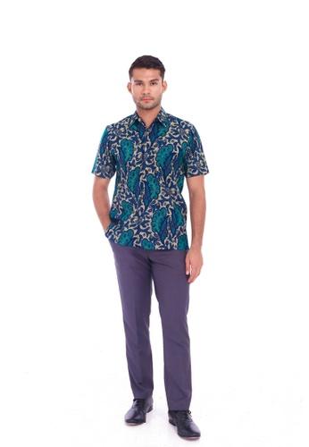 TUSCA blue Eusoff Classic Batik Shirt 9083EAAB258E87GS_1