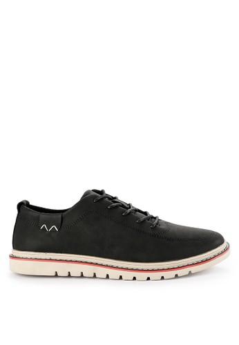 Urban State black Lace Up Flat Sporty Derby Shoes B1E4ESH37D65C0GS_1