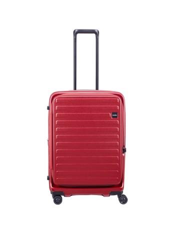 Lojel red Cubo 1 Koper Hardcase Medium/26 inch - Burgundy DCBD6AC396AB8AGS_1