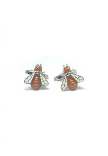 Splice Cufflinks brown Honey Bee Cufflinks   SP744AC81EECSG_1