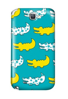 Gator Yellow and Blue Hard Case for Samsung Galaxy Note 2