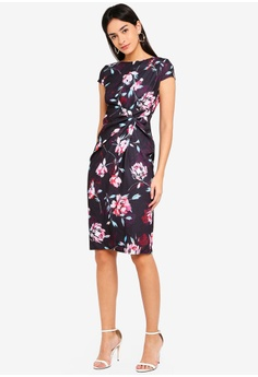 8560464123c 60% OFF Dorothy Perkins Lily   Frank Manipulated Cap Sleeve Dress RM 309.00  NOW RM 123.90 Sizes 6 8 10 12 14