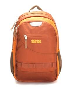 【ZALORA】 出差型耐用1680D後背包(A4) 橘