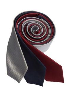 Microcheck Slim Necktie Combo 2