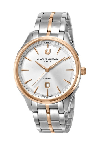 Charles Jourdan silver Charles Jourdan Men Watch Classic Qurartz CJ1054-1612 1FB61ACAAFDDAAGS_1