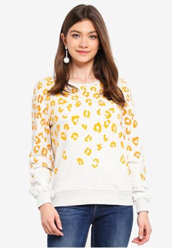 ONLY yellow Anna Madison Sweatshirt 35379AAEDDC363GS_1