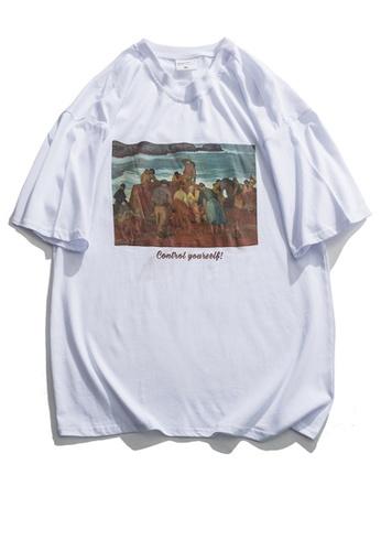 Twenty Eight Shoes Vintage Printed Short T-Shirt HH0218 3B966AA9B132A2GS_1