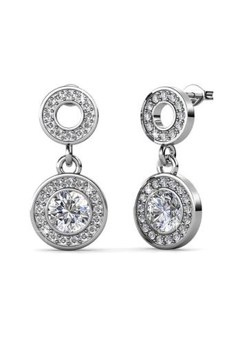Her Jewellery silver Oro Dangling Earrings - Licensed Genuine Crystals from Swarovski® HE581AC0RBP8MY_1
