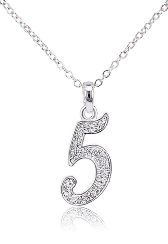 SO SEOUL silver Personalised Collection Numeric Necklace - No.5 8B7F9ACE8B3191GS_1