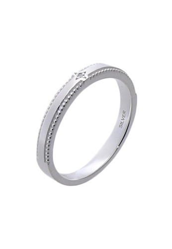 The LoveMark silver Simple and Slim Ring with Artificial Diamond for Women lr0007f TH516AC49VBQPH_1